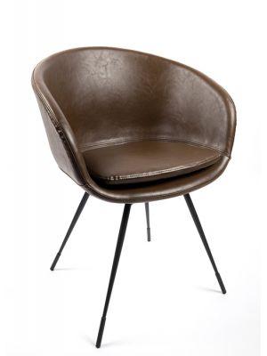 bruine ronde kantoorstoel | bestbudgetkantoormeubelen.nl